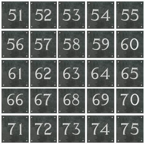 Numbers /& Names Plaque en ardoise avec num/éro de maison Grand format