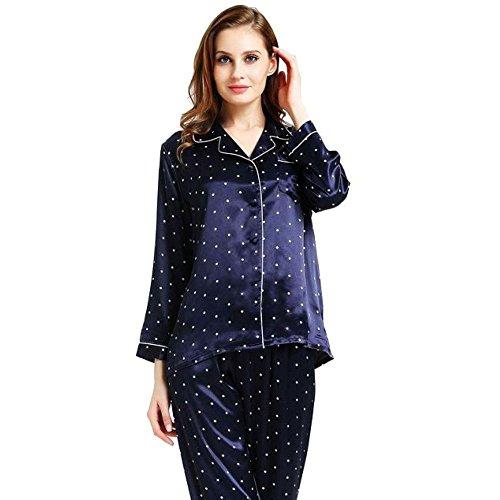 Womens Silk Satin Pajamas Set Sleepwear Loungewear XS~3XL Plus