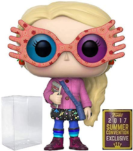 (Harry Potter Funko Pop! Movies Luna Lovegood with Glasses #41 SDCC 2017 Summer Convention Exclusive Vinyl Figure (Bundled with Pop Box Protector CASE))