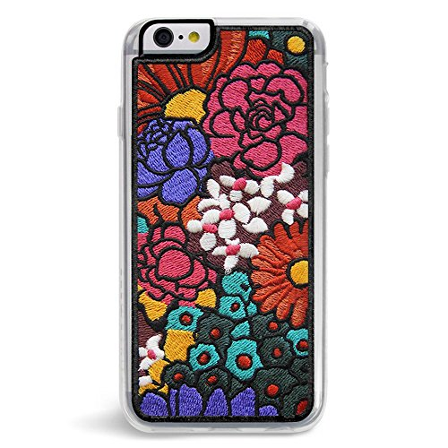 Embroidered Phone Case (Zero Gravity Apple iPhone 6/6s Woodstock Retro Embroidered Phone Case - Multicolored Floral Design - 360° Protection, Drop Test Approved)