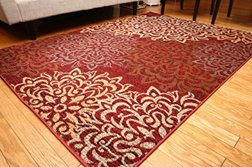 Feraghan/New City Contemporary Modern Floral Flowers Wool Area Rug, 5