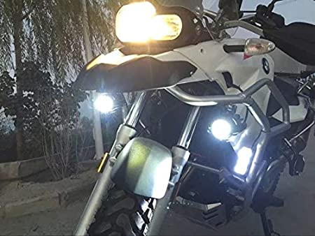 Adoner 2 Pcs 40W LED Spot Auxiliary Lamp 6000K Super Bright Fog Driving Light Kits Led Lighting Bulbs DRL For Motorcycle R1200GS F800GS K1600