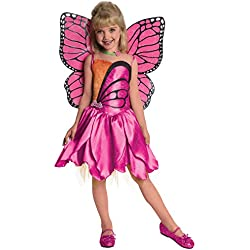 Barbie Fairytopia Mariposa and Her Butterfly Fairy Friends Deluxe Mariposa Costume, Small