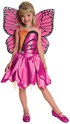 Cheap Halloween Costumes For Friends (Barbie Fairytopia Mariposa and Her Butterfly Fairy Friends Deluxe Mariposa Costume, Medium)