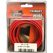 Coleman Cable 55671533 12 Gauge Automotive Copper Wire, Red, 11'