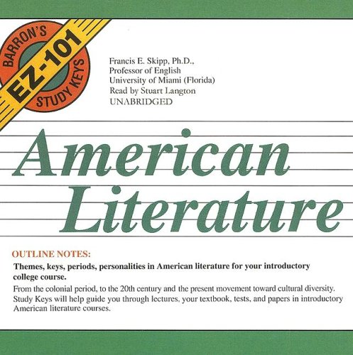 American Literature (Barron's EZ-101 Study Keys) (Library Edition) (Barron's EZ-101 Study Keys (Audio))