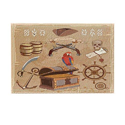 Nymb Adventure Pirate Treasure Map Bath Rugs For Bathroom