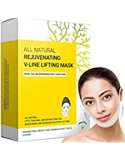 Dubbele kinverkleiner en -verwijderaar, V Line Lifting Face Mask, Double Chin Reducer & Remover - Liftt, trekt kaaklijn en kin aan - Geformuleerd in San Francisco (5 maskers)