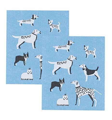 Now Designs Swedish Dishcloths, Set of 2, Dog Days Print