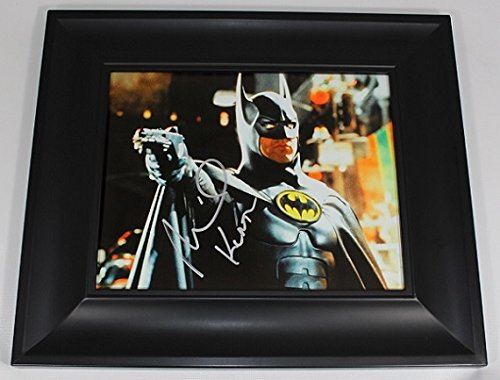 Batman Bruce Wayne Michael Keaton Authentic Signed Autographed 8x10 Glossy Photo Gallery Framed Loa