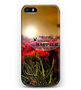 iphone 6 4.7 Case iDraw iphone 6 4.7 Hard Case -- The Less You Care,The Happier You Will Be