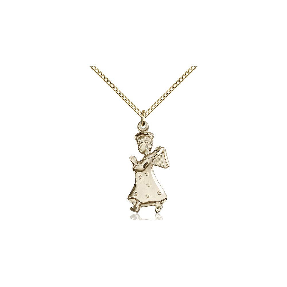 DiamondJewelryNY 14kt Gold Filled Angel Pendant
