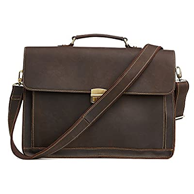 best leather bags for men Retro Leather Briefcase Laptop Messenger Bag