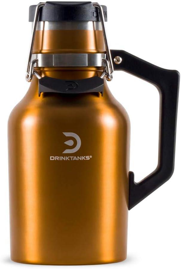 DrinkTanks 32 oz Vacuum Insulated Stainless Steel Beer Growler