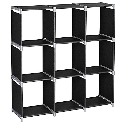 xhope Estante de almacenamiento portátil para bricolaje, cubeta de almacenamiento, estante organizador de clóset de 6...