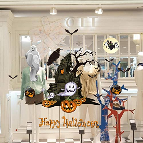 Vegan Happy Halloween Removable Wall Sticker,for Home Party Kitchen Decor