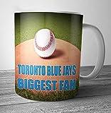 Toronto Blue Jays Biggest Fan Baseball Mug - Birthday Gift / Stocking Filler (7 - 10 BUSINESS DAYS DELIVERY FROM UK)