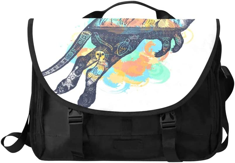Crossbody Shoulder Bag The Brown Carton Kangaroo is Running Multi-Functional Zip Satchel Handbag Fit for 15 Inch Computer Notebook MacBook