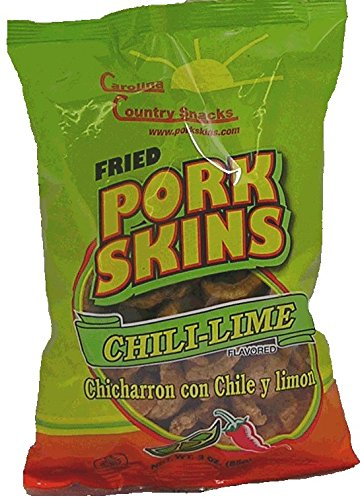 Fried Pork Skins Clili-Lime Very Hard 36 Packages by Carolina Country Snacks (Image #1)