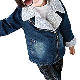 ShangYi Kids Girls Warm Denim Jacket Coat For Cold Winter 85CM