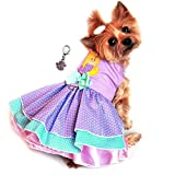 """Doggie Design Charmed Lavender Mermaid/Polka Dot Party Harness Dress-Sizes XS-L (X-Small- Chest 10""""-13"""", Neck 7""""-10"""", Lavender Pink) Review"""