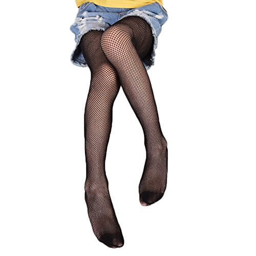 - Children Little Girls Hollow Out Fishnet Pantyhose Tights Leggings 1 Pair (Black-Small Net)