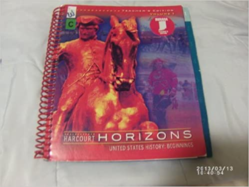 Harcourt Horizons United States History Beginnings