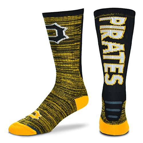 [MLB Jump Key RMC Crew Socks Mens- Size Large(10-13)-Pittsburgh Pirates] (Pirate Clothing And Accessories)