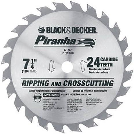 Black decker 67 737 piranha 7 14 inch 24 tooth atb thin kerf black decker 67 737 piranha 7 14 inch 24 tooth keyboard keysfo Images