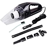 Car Vacuum Cleaner,Maryger 12V 120W 4000PA Portable Handheld High Power Dry Wet for Car Home Office with 13.5 in Power Cord Black