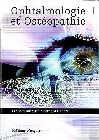 Livres Ophtalmologie et ostéopathie pdf ebook