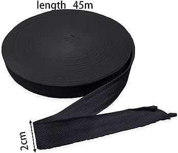 Rollo de cinta de sarga de algodón de 45 o 50 metros, 2 cm de ancho, diseño de espiga, rayas tejidas, cinta de sarga para manualidades, delantales, regalos, decoración del hogar, costura: