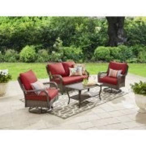 Colebrook 4-Piece Outdoor Conversation Set, Seats 5-red