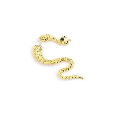 8fbe24a04 Amazon.com: Punk Double Sided Animal Stud Earrings For Women Metal Snake  Stud Earrings Fashion Jewelry (Gold): Jewelry