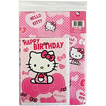 23ca214f7 Amazon.com: Gift Wrap | Hello Kitty Rainbow Collection | Party ...