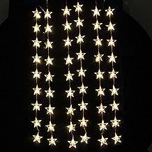 AGPtek® 1M*1.5M 54LED Star Light Christmas Xmas Party String Light Wedding Curtain Light Home Decoration (Warm White)