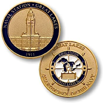 Naval Station Great Lakes Challenge Coin