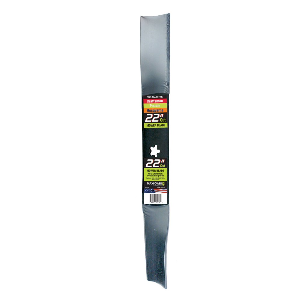 MaxPower 331740S Mower Blade for 22 Inch Cut Poulan/Husqvarna/Craftsman Replaces 420463, 421825, 437601, 532420463, 532421825, 532437601 by Maxpower