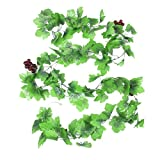 Home Decorative Green Artificial Grape Vine 7.9 Ft