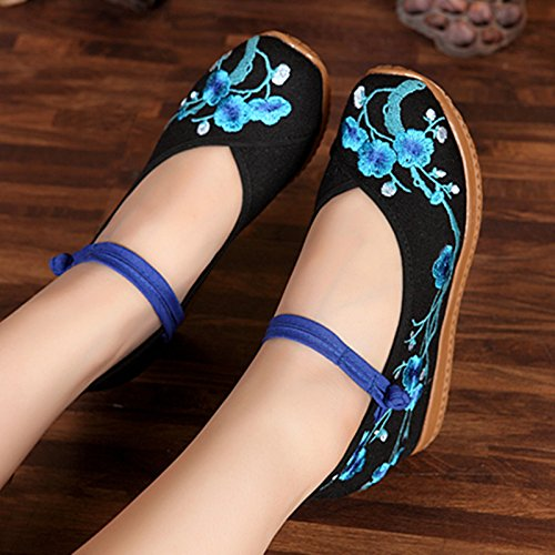 Chaussures Nouveau black Fin Chaussures Une Le Des A Hasp Dichotomanthes National Antidérapantes Pareilles Avec Boucle KHSKX Plat Des fBZnRT5q