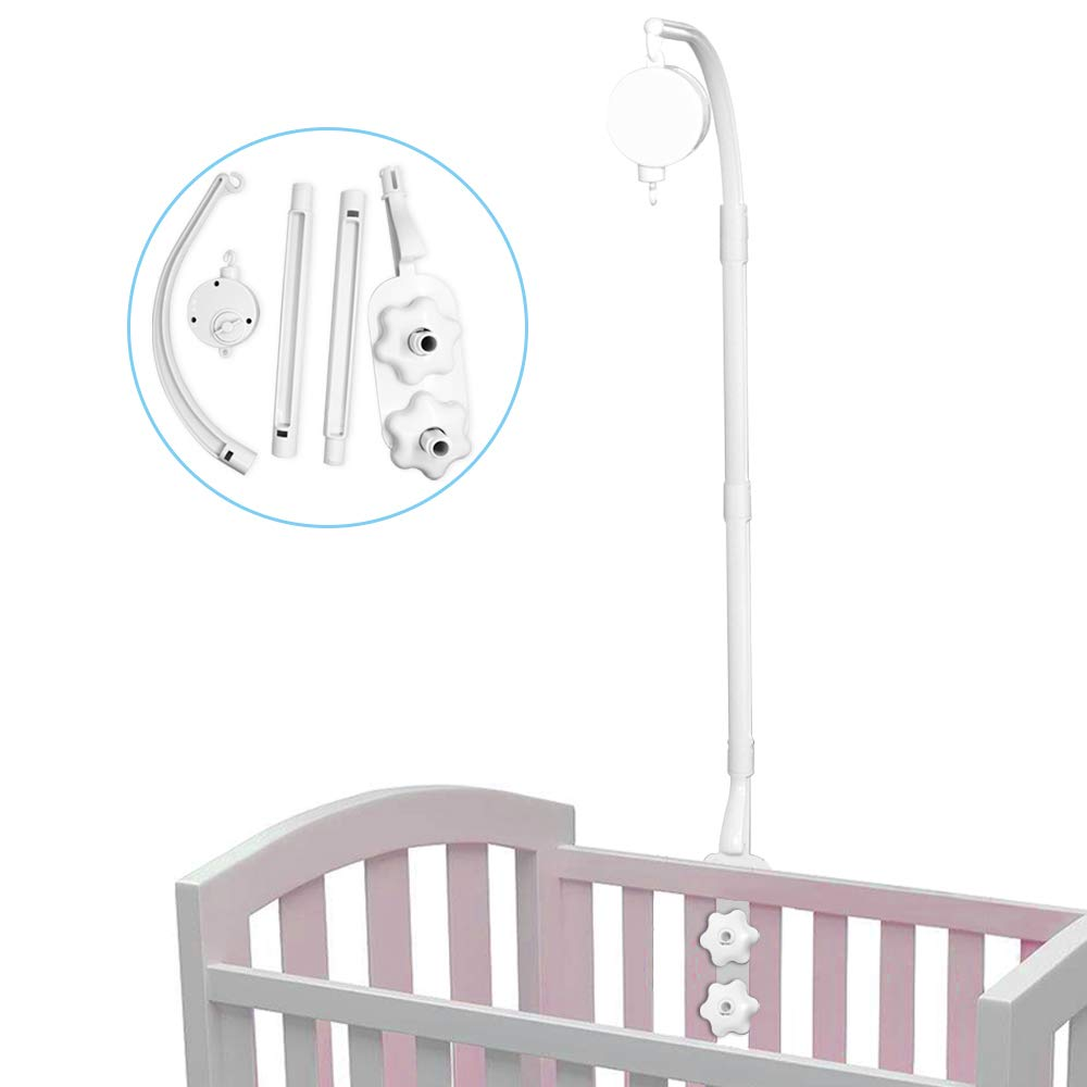 Baby Bed Stent Set Nut Screw Mobile Bed Toy Decoration Hanging Arm Bracket Wind-up Crib Bell Holder Baby Crib Mobile Bed Bell Holder Baby Music Mobile Belt Arm Mobile Bed Bell Holder