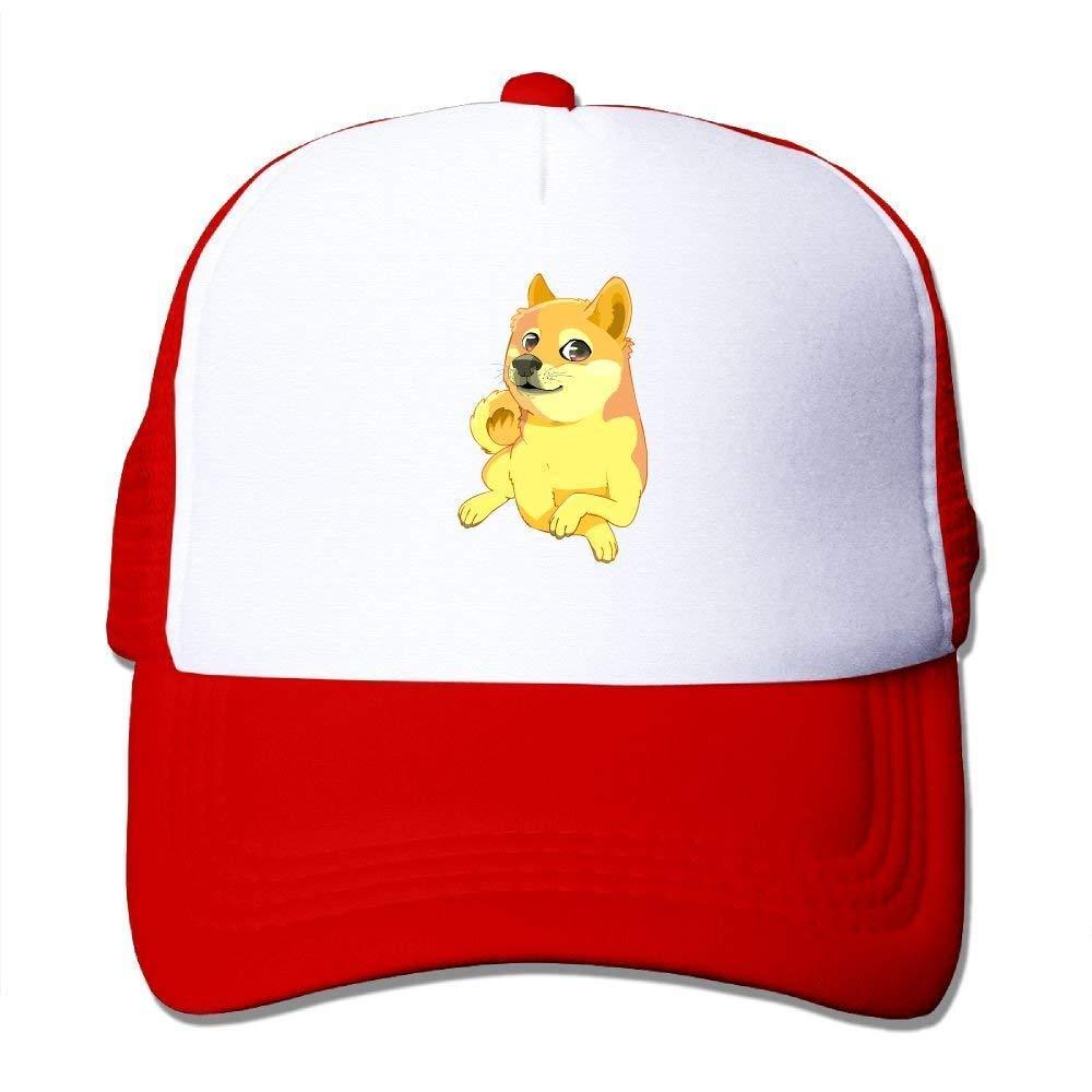 dfegyfr Cute Dog Shiba Ajustable Gorras de béisbol de Malla de ...