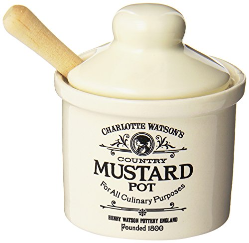 Mustard Pot - Charlotte Watson Country Collection in Cream Mustard Pot