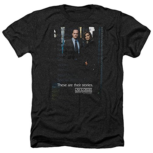 Law and Order SVU SVU Unisex Adult Heather T Shirt for Men and Women, Medium Black