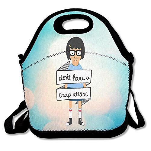 Bekey Bob's Burgers Tina Belcher Girl Lunch Tote Bag Lunch Box For Women Adults Kids Girls For Travel School Picnic Grocery Bags