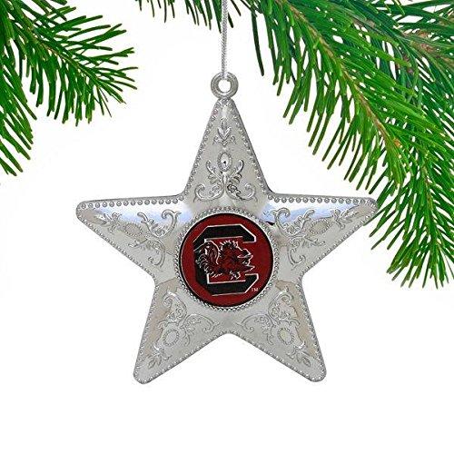 Boelter NCAA South Carolina Fighting Gamecocks Silver Star Ornament, Silver, 4