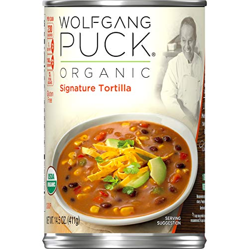 Wolfgang Puck Organic Signature Tortilla Soup, 14.5 oz. Can (Pack of 12) - Organic Tortilla Soup