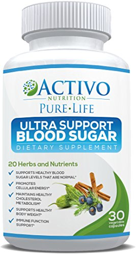 Blood Sugar Support Supplement for Heart & Cardiovascular Health - Controls Glucose & Metabolism, Insulin & Cholesterol - Supports Immune Health & Weight Loss - 20 Natural - Sugar Regulator Blood