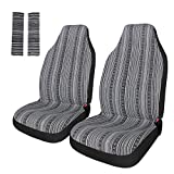 Automotive : Copap Universal Stripe Colorful 4pc Front Seat Covers Baja Bucket Seat Cover Blue Saddle Blanket with Seat-Belt Pad Protectors for Car, SUV & Truck