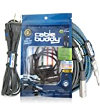 Cable Buddy® 5-pack, Black - Cable Organizer Ties with Color ID Labels